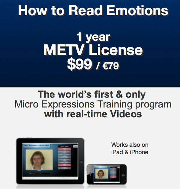 micro expression training tool essay They turn to coaches rather than to training for their ongoing leadership development  watch facial expression, body language, and movements.