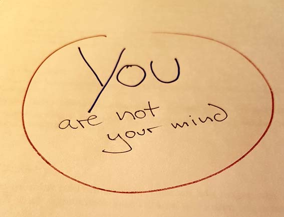 YOU are not your mind, really!
